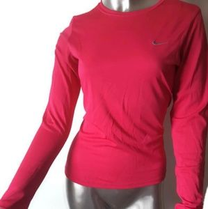 Nike Tops - NIKE Fuchsia Long Sleeves Fit-Dry Gym Shirt Sz S